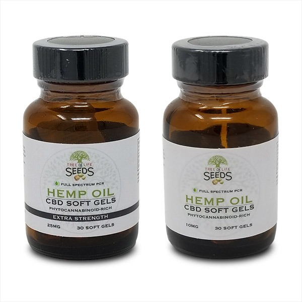 Tree of Life Seeds - CBD Soft Gels - 10MG & 25MG - Hemp Oil