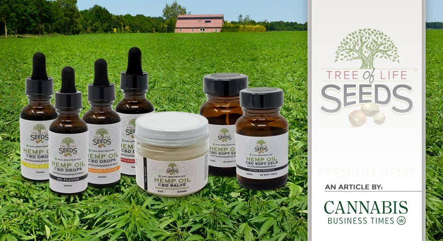 Tree of Life Seds - Article by - Cannabis Business Times - Tree of Life Seeds Launches CBD Product Line, Announces Plans to Bring Production to Arkansas