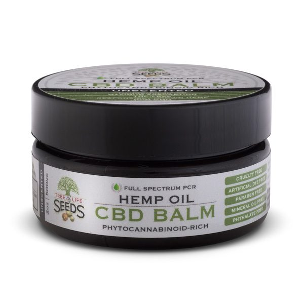 Tree of Life Seeds - Hemp Oil - CBD Balm - Unscented - 500MG