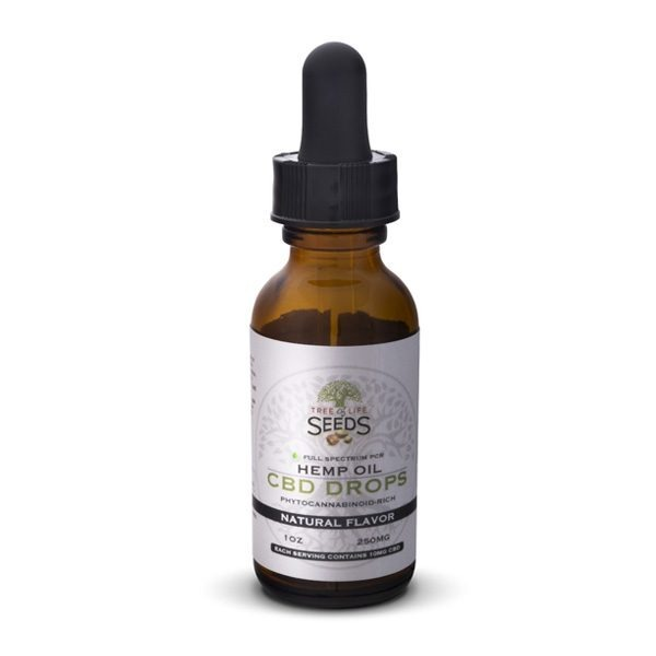 Tree of Life Seeds - Hemp Oil - CBD Drops - Natural Flavor - 250MG