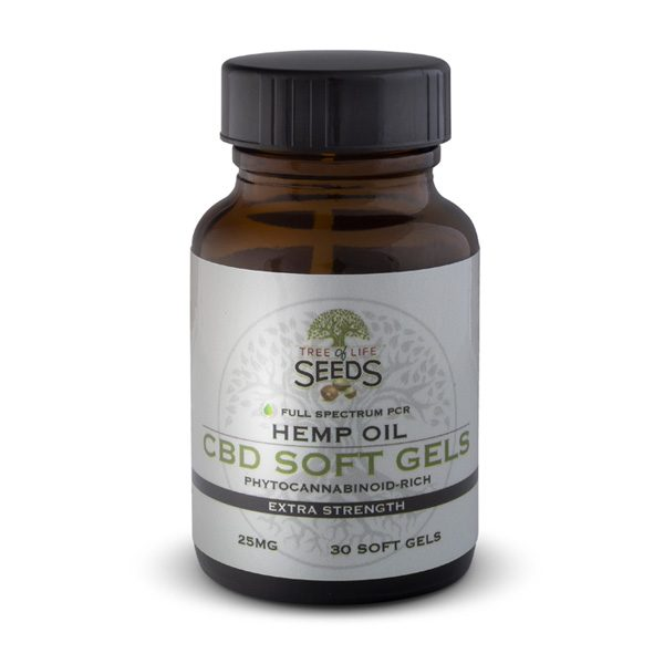 Tree of Life Seeds - Hemp Oil - CBD Soft Gels - Extra Strength - 25MG