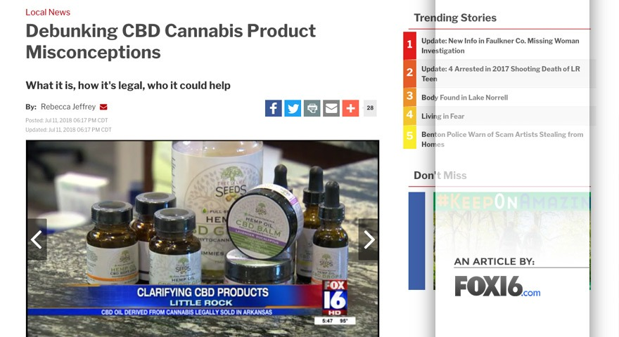 FOX16.com – Debunking CBD Cannabis Product Misconceptions