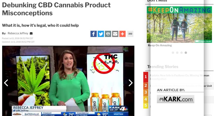 KARK.com – Arkansas Spine and Pain offering Tree of Life Seeds CBD products to patients